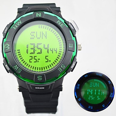 men s multifunction electronic lcd compass watches fashion
