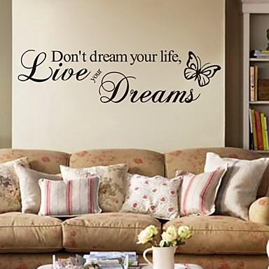 Palabras y frases pegatinas de pared calcoman as de for Calcomanias pared