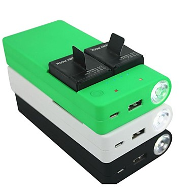 7500mah batterie portable usb banque d 39 alimentation de secours externe chargeur pour gopro hero. Black Bedroom Furniture Sets. Home Design Ideas