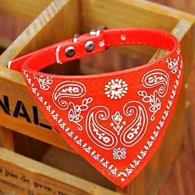 Регулируемая PU кожаный треугольник шарф воротник для домашних животных Собаки (ассорти цветов и размеров)