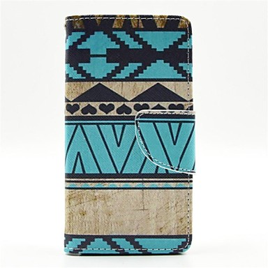 Blue Stripes Pattern PU Leather Full Body Cases With Card Slot for Samsung Galaxy Alpha G850F G850