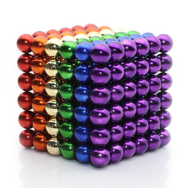 Magnet Toys For Gift  Building Blocks Model & Building Toy Square Metal 8 to 13 Years Rainbow Toys
