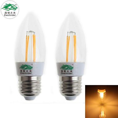 Zweihnder Lâmpada de Filamento LED Decorativa E26/E27 4 W 380 LM 3000-3500 K ...