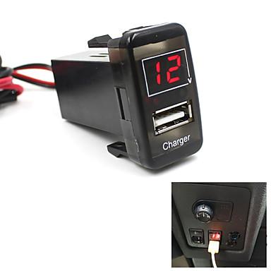5v salpicadero del coche del usb puerto de cargador de tel fono volt metro para toyota vigo - Instalar puerto usb en coche ...