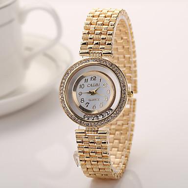 Geneva Women 2015 New Alloy Steel Quartz Watches Men Gold