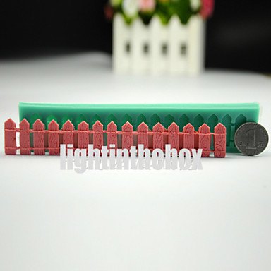 Garden Fence Rail Enclosure DIY Silicone Chocolate Pudding Sugar Ice Cake Mold