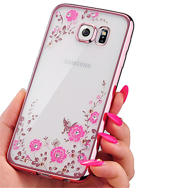 Electroplating Secret Garden Flower Diamond Phone Cases Samsung Galaxy J3/J5/J7