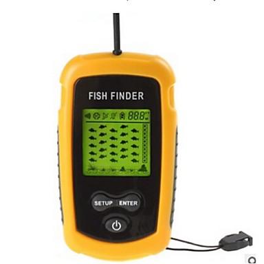 100m portable sonar sensor fish finder fishfinder alarm for Fish finder transducer