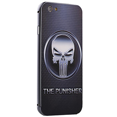 The Punisher Pattern Metallrahmen PC gemalt Hard Case für iPhone6 ​​/ 6s / 6 Plus / 6s plus