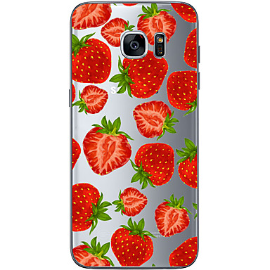 Strawberry TPU Soft Back Cover Case Samsung Galaxy S6 S7 edge Plus