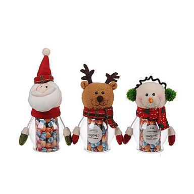 1pc mascota navidad tarro de caramelos verde pap noel - Caramelos de navidad ...