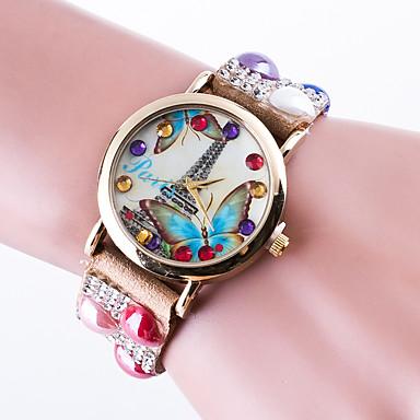 Reloj Mujer Top Brand Women's Casual Wrist Watch Quartz Bracelet Ladies Rhinestone Band Tower Dial montre femme clock