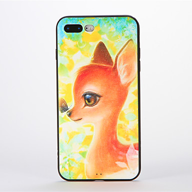 Apple iPhone 7 Plus Case Back Cover Soft Silicone Deer Pattern 6s Plus/6 6s/6