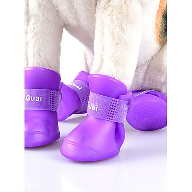 Cat Dog Shoes  Boots Cute Sports Fashion Windproof Reversible Waterproof Solid PU Leather