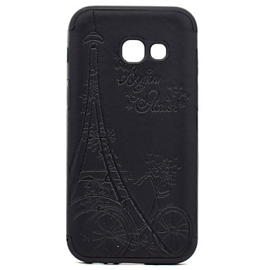 For Samsung Galaxy A3 A5(2017) Embossed Pattern Case Back Cover Case Eiffel Tower Soft TPU A7(2017)