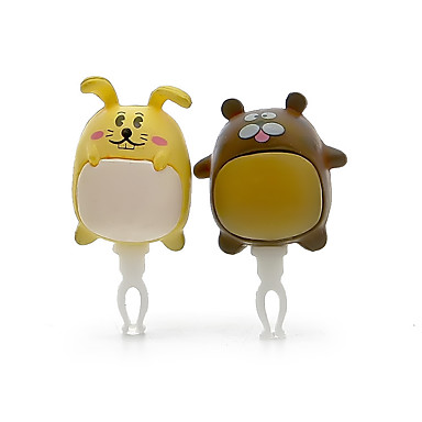 A Pair Anti-dust Plug DIY Rabbit For Couple Resin Crafts Cartoon Toy Resin 3.5MM