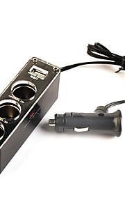 3 uttag billaddare med USB strömförsörjning för iphone 6 iphone 6 plus