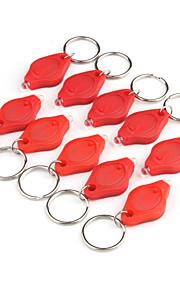 1400mcd LED lommelygte nøglering - rødt lys (10-pack)