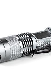 SIPIK SK68 Bærbar Cree XR-E Q5 Zoom LED lommelygte (400LM, 1x14500 / 1xaa)