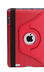 新しいiPad用PUレザー保護回転可能と肥厚ケースとスタンド(分類された色)