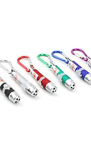liga de alumínio 1-mode 3 mini-lanterna LED chaveiros (3xlr44, cor aleatória)