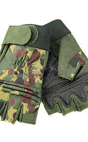 Camouflage Half Finger Gloves for Paratroopers