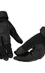 Glove Cycling / Bike Men's Full-finger Gloves Anti-skidding / Wearproof Spring / Autumn / Winter Black Others - Others