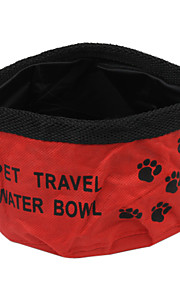 Oxford Fabric Folding Pet Travel Water Bowl for Pets Dogs (Assorted Colors)