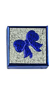 lureme®5x5cm lille størrelse bue papir ring kasse (blå)