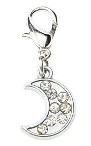 Rhinestone Dekoreret Little Moon Style Collar Charm for Hunde Katte