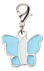 Dog tags Colorful Butterfly Style Collar Charm for Dogs Cats (Random Color)