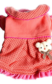 All Seasons Cotton Dresses for Dogs / Cats Red XS / S / M / L / XL