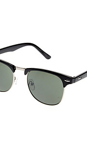 OREKA Mørkegrøn Lens Sort / hvide ramme vintage solbriller (2 Color vælges)