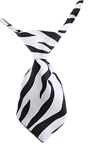 Black and White Tiger Stripe Pattern Neck Tie for kjæledyr Hunder Katter (Neck: 26-38cm)