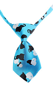 Lovely Cat Pattern Neck Tie for Husdyr Hunder Katter (Neck: 26-38cm)