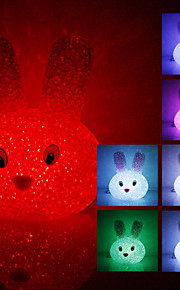 Crystal Rabbit Shaped Color Changing LED Night Light (USB)
