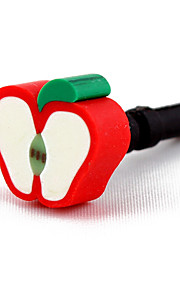 3.5mm Lovely Apple Pattern Anti-dust Plug (Random Colors)