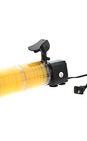 alta eficiência poderosa wp-3300A filtro interno elétrico com luzes LED flash para aquários (2-seção)