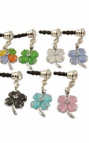 Lucky Clover Pattern Alloy Opal enchufe del Anti-polvo (colores aleatorios)