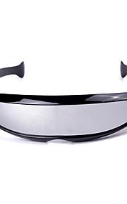 Unisex Silver Lens Black Frame UV400 Beskyttelse Sportsbriller