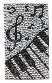Noble Piano Pattern Jewelry Protective Body Sticker for Cellphone