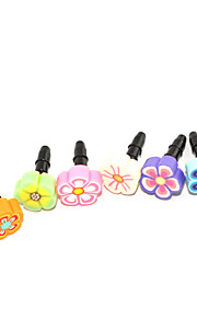 3.5mm Rubber Flower Pattern Anti-dust Plug(Random Colors)