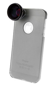 4X Telephoto Lens with Ultraslim Matte PC Hard Case for iPhone 5 (Optional Colors)