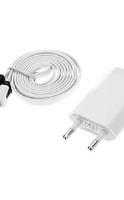 Maschio USB a Micro USB maschio dati di ricarica + adattatore di spina UE Cavo per Samsung Mobile Phone