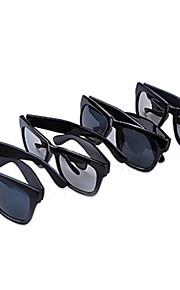 Unisex Square Matte Black Ink solbriller
