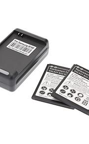 Wall Charger, 2 Batterijen voor de Samsung Galaxy S3 Mini I8190 (1900mAh)