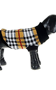 British Style Grids Pattern Sweater for Pets Dogs (Assorted Sizes)