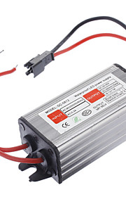 Vanntett 12W LED Constant Current Source Strømforsyning Driver (85-265V)