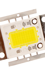 50W 3000LM Hvite LED Flat Lamp Light (18-20V)