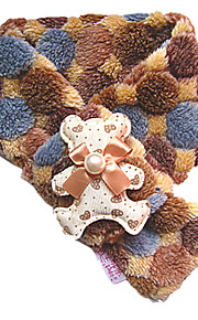 Cool Warm Countryside Style Scarf with Bear Pattern for Pets Dogs Cats (Assorted Sizes)